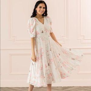 Rachel Parcell Romantic Butterfly Pink Dress